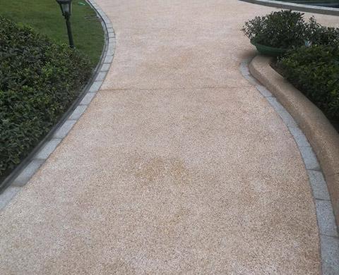 重庆水洗石地坪铺设案例