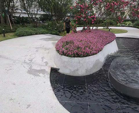 中铁·西派辰樾水磨石、水洗石