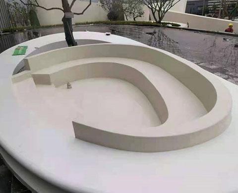 渝州博学家水磨石座凳