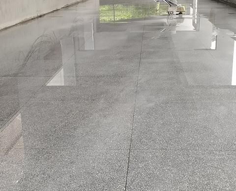 四川绵阳空气研究所水磨石地坪